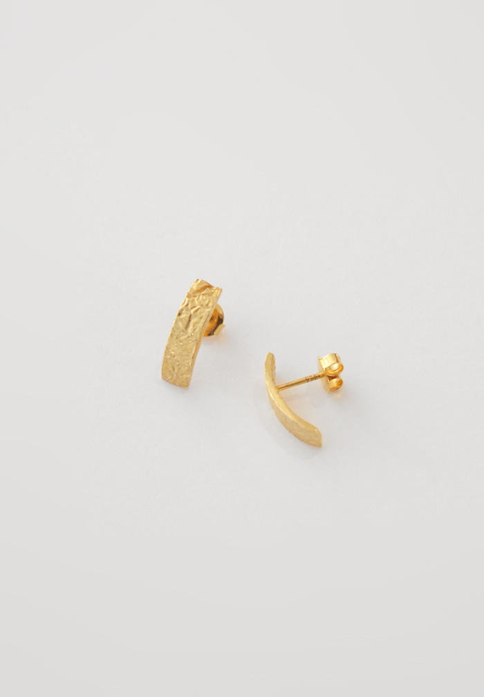 Edge Gold Earrings (Silver 925)