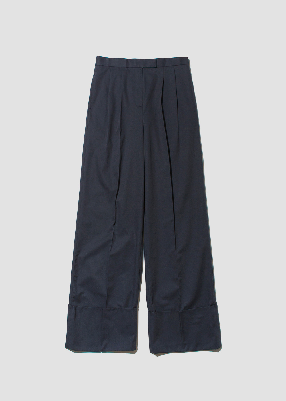 [FLAT] Wide roll-up pants